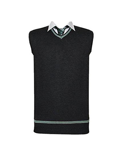 Costume Cosplay Unisex Scuola Uniforme Maglione Gilet Green X-Large