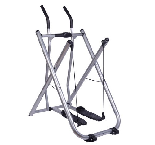Lowest Prices! Soozier Folding Exercise Fitness Glider Machine Elliptical w/ Pedometer