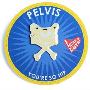 Pelvis Lapel Pin You're So Hip I Heart Guts