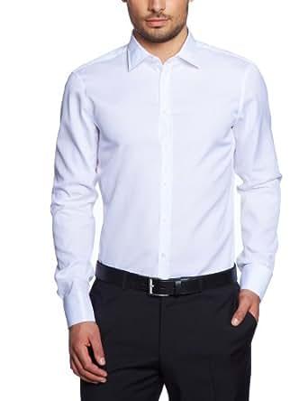Jacques Britt Herren Businesshemd Slim Fit 20.969513-01, Gr. 40, Weiß (white)