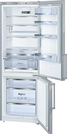Bosch KGE49AI40 Kühl-Gefrier-Kombination SmartCool / A+++ / Kühlen: 296 L / Gefrieren: 112 L / edelstahl / CrisperBox / Abtauautomatik