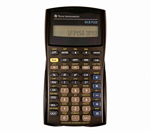 TEXAS TI-BA II PLUS - ADVANCED FINANCIAL CALC (TIBA2P) - (Ti Ii Plus compare prices)