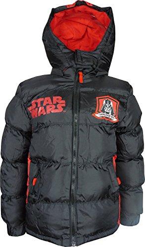 Bambini e ragazzi Star Wars invernale Giacca con Cappuccio Nero-4 Anni / 104 cm