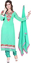 Cool women's Georgette Embroderied Unstitched Dress Material -1025_Multi-Coloured_Freesize
