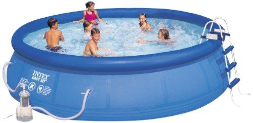 Best revews intex 56409 kit piscine autostable 4 57 x 1 07 for Piscine hors sol 4 57 x 1 07 m easy set intex