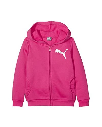 Puma Giacca Felpa Is Girls Hooded Sweat Jkt  [Fucsia]