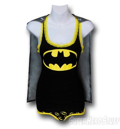 Batgirl Womens 2 Piece Sleep Set with Cape (WOMENS-EXTRA LARGE)