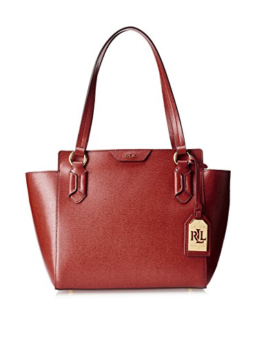 Lauren Ralph Lauren Women'S Tate Modern Shopper, Red/Cocoa