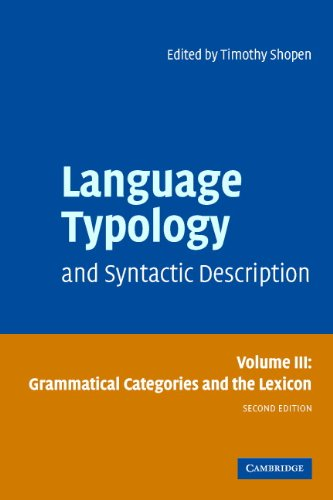 Language Typology and Syntactic Description: Volume 3,...
