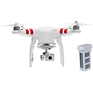 """DJI Phantom 2 Vision+ """"V1.0"""" Quadcopter with FPV HD Video Camera and 3-Axis Gimbal Bundle with Extra Battery"""