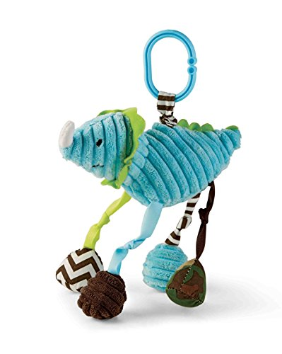 Mud Pie Dino Stroller Toy, Blue - 1