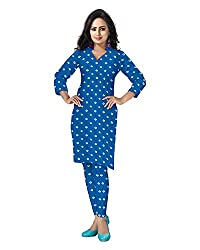 Banjara Women'S Cotton Bandhani Unstitched Dress Material (Rf20, Turquoise Blue_Free Size)