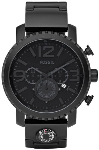 Fossil Men's JR1303 Black Stainless-Steel Quartz Watch with Black Dial