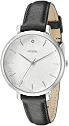 Fossil Women's ES3865 Incandesa Diamond-Accented Stainless Steel Watch with Black Band