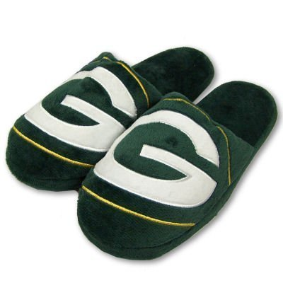 Green Bay Packers NFL official 2010 Big Logo Men's size xl Slippers forever collectibles from forever
