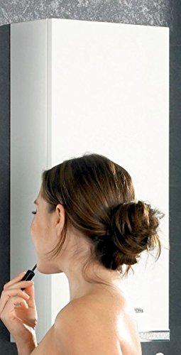 Kesper Badmöbel 7980010604301000 Hängeschrank Brillant, 1 Tür, 70 x 32,5 x 15 cm, weiß hochglanz