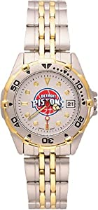 Detroit Pistons Ladies All Star Watch Stainless Steel Bracelet by Logo Art