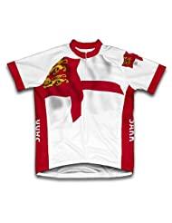 Sark Flag Short Sleeve Cycling Jersey for Women