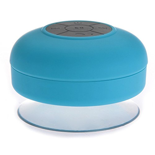 Tmvel Wireless Bluetooth Waterproof Shower Speaker with Dedicated Suction Cup - Retail Packaging - Blue