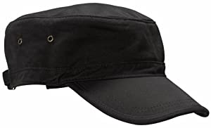 ECOnscious 100% Organic Cotton Twill Corps Hat (Black)