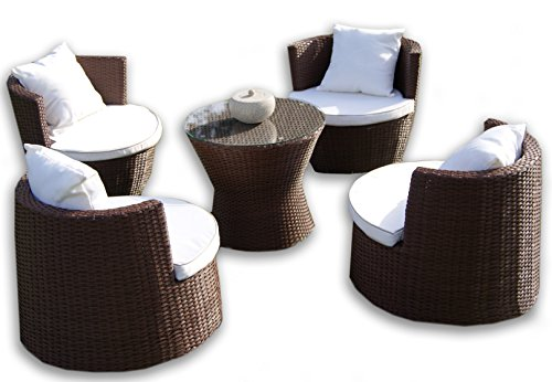 Deeco DM-GV-503 Art-Deck-Oh Geo Vase Interlocking All Weather Wicker Furniture Set photo