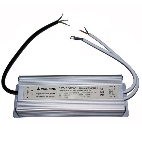 Waterproof IP67 LED Driver Transformer 150 Watt 12V Power Supply with double output