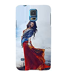 EPICCASE Traditional Look Girl Mobile Back Case Cover For Samsung Galaxy S5 Mini (Designer Case)