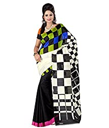 GoGalaxy Fashion Woman's unstiched party wear collection Multi Bhagalpuri Silk Printed Free Size Full Saree at Low Price