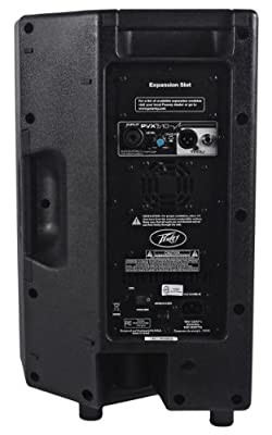 "Peavey PVXp 10 400 Watt Powered 10"" 2-Way DJ/PA Live Speaker or Floor Monitor with Ultra-Reliable Fan-Cooled Power Amps with DDT and Durable Plastic Injection-Molded Trapezoidal Enclosure"