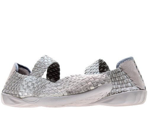 Bernie Mev Cuddly Casual Flats Womens Shoes Cuddly-Slgy Silver 38 Eur front-921447