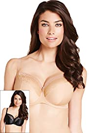 2 Pack Rose Lace Underwired DD-G Bras