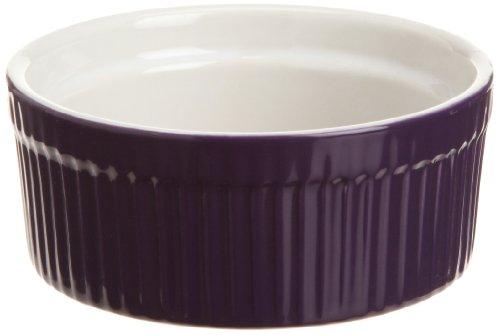 BIA Cordon Bleu 10-Ounce Individual Souffle, 2 Tone, Violet Purple, Set of 4