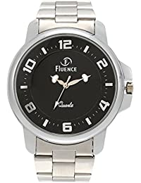 Fluence Stylish Rim Analog Black Dial Men's Wrist Watch-FLS-0786-BLACK