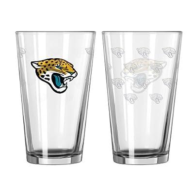 NFL Jacksonville Jaguars Satin Etch Pint Glass, 16-ounce, 2-Pack