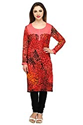 Lady In Red Georgette Kurta
