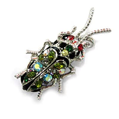 Colorful Bug 8GB Fashion Crystals Jewelry USB 2.0 Flash Memory Pen Drive Pendant for Necklace by pengyuan