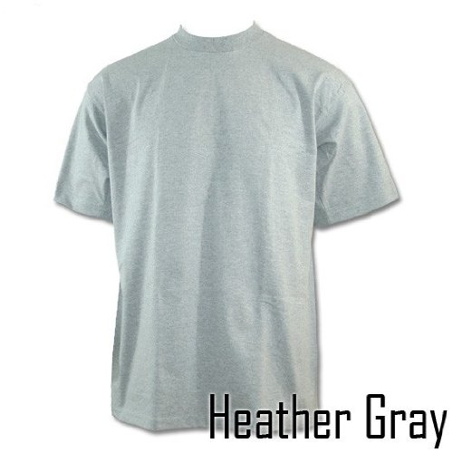 Pro Club Heavyweight T-Shirt 2XL- TALL Heather Gray (Various Sizes & Colors Available)