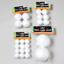 Ddi Assorted Craft Foam Balls (Pack Of 72)