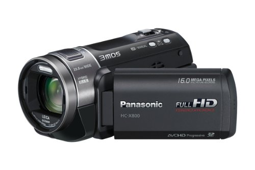 Panasonic X800 Full HD 1920 x 1080p (50p) 3D Ready Camcorder - Black (3MOS Sensor Black Friday & Cyber Monday 2014