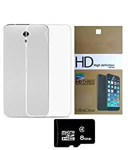 Yu Yunicorn back case cover With 8 GB MEMORY CARD AND SCREEN GUARD combo by DEPARQ