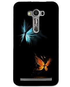 Hugo Asus Zenfone 2 Laser Back Cover Hard Case Printed Designer Multicolour