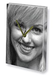 SARAH MANNERS - Canvas Clock (A4 - Signed by the Artist) #js001