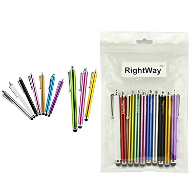 RIGHTWAY 10pcs 11cm 4.5inches Universal Capacitive Touch Screen Stylus Touch pen for ipad 2 3 4 mini tablet pc iphone 4 4s 5 ipod touch HTC Samsung Galaxy Note II 2 Galaxy S4 smart phone
