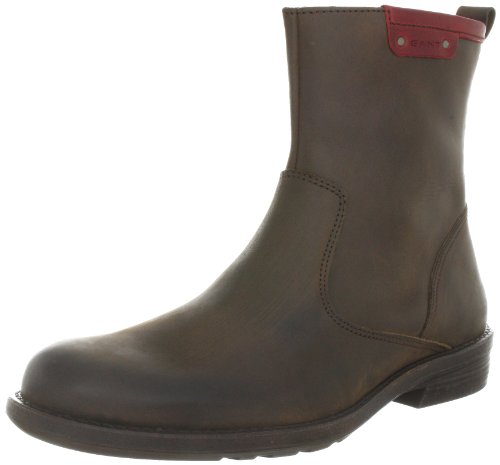 Gant HAYNES DARK BROWN/RED LEA Chelsea Boots Mens Brown Braun (dark brown red) Size: 10 (44 EU)