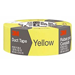 3M Duct Tape, Yellow, 1.88-Inch by 60-Yard