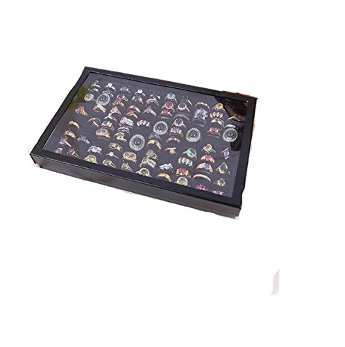 Jewelry Rings Display Tray Velvet,Vovotrade Jewelry Storage Box (100 Slot B) (20 Drawer Mobile Organizer compare prices)