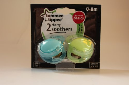 Tommee Tippee Essentials Basics Cherry Soothers 0-6M (Boy) front-822313