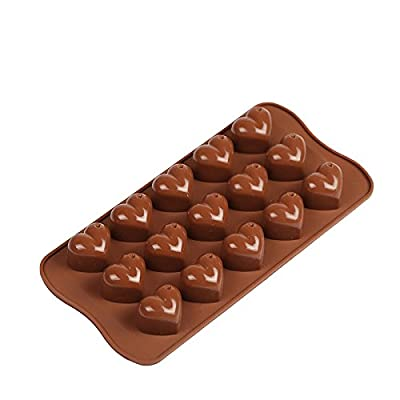 Smaier Silicone Rose Shape Cake Molds Candy Mold & Ice Cube DIY Baking Trays Chocolate Jelly Pan 6-Cavity