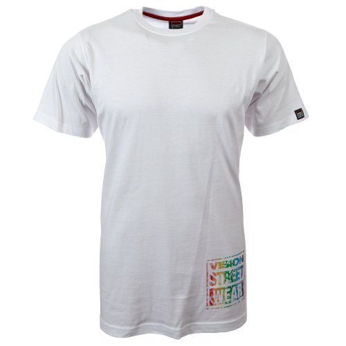 Vision Street Wear Multi Color Logo T-Shirt , white