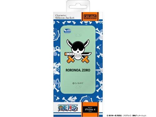 レイアウト iPhone4シリーズ用ワンピース海賊旗コレクションシリコンジャケット ゾロRT-OP3A/ZR